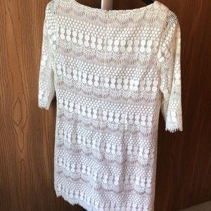 Jessica Howard Dresses - Cream and nude lace dress